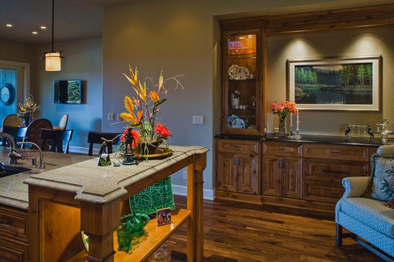Kitchen, buffet, display cabinet, lighting